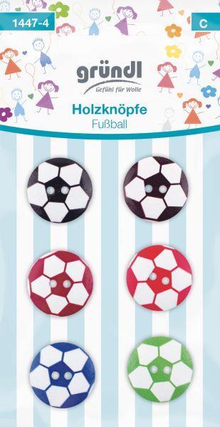 Gründl Holzknöpfe Fußball farbig-sortiert 1447-4