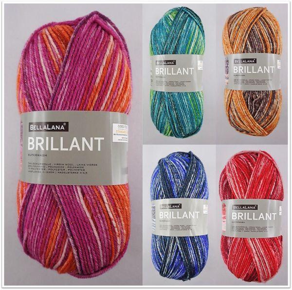 BellaLana Brillant, 100g Sockenwolle mit Glitzer