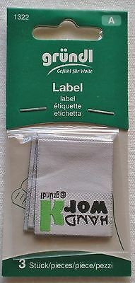 Gründl Label zum Aufnähen / Annähen als Accessoire