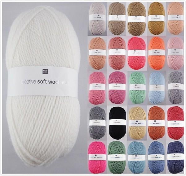 Rico Design Creative Soft Wool Aran, 100g-Knäuel