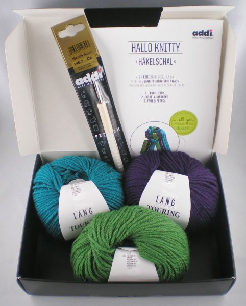 addi Hallo Knitty Häkelschal-Set