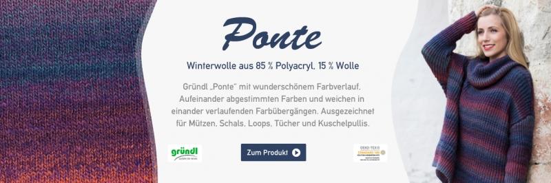 Gründl Ponte, 100g Farbverlaufsgarn (Dochtfaden)