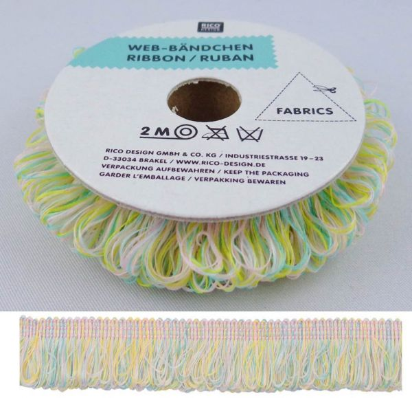 Rico Web-Bändchen Pastell Mint 36