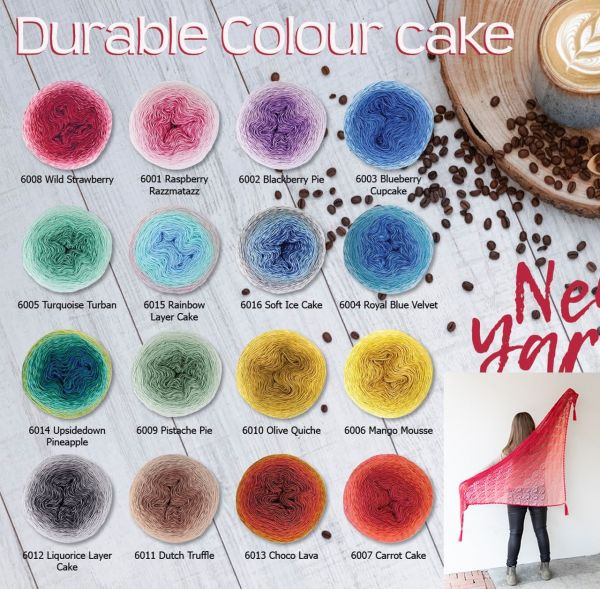 Durable Colour Cake, 250g Bobbelgarn