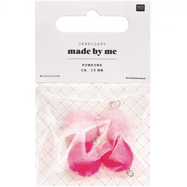 Rico Design Mini Pompons Neon Pink Mix (No. 7094.69.01 )