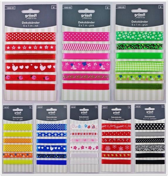 Gründl Dekoband Bastelband Geschenkband Borte aus 100% Polyester zum Basteln