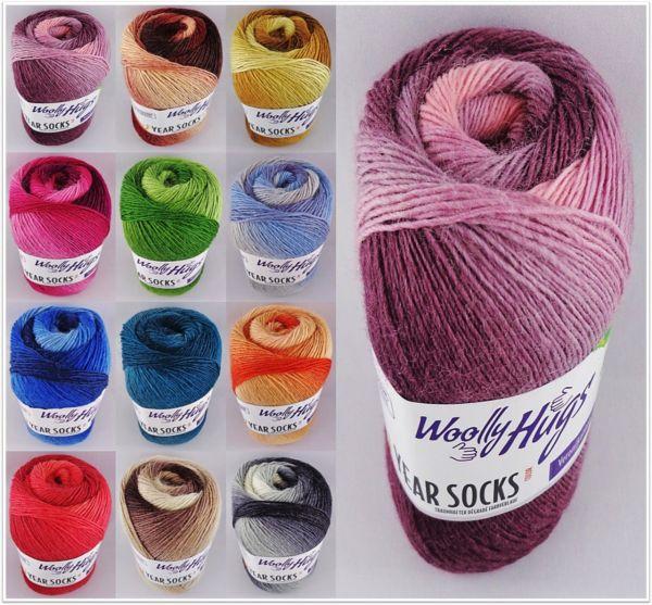 Woolly Hugs Year Socks Color, 100g Sockenwolle