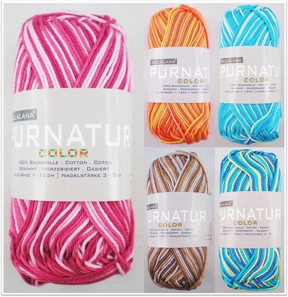 BellaLana Pur Natur Color, 50g Farbverlaufsgarn