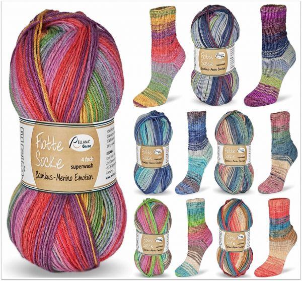 Flotte Socke Bambus-Merino Emotion, 100g Sockenwolle 4-fach
