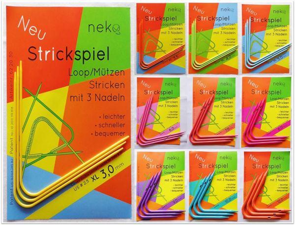 neko-Loop & Mützen stricken mit 3 Nadeln