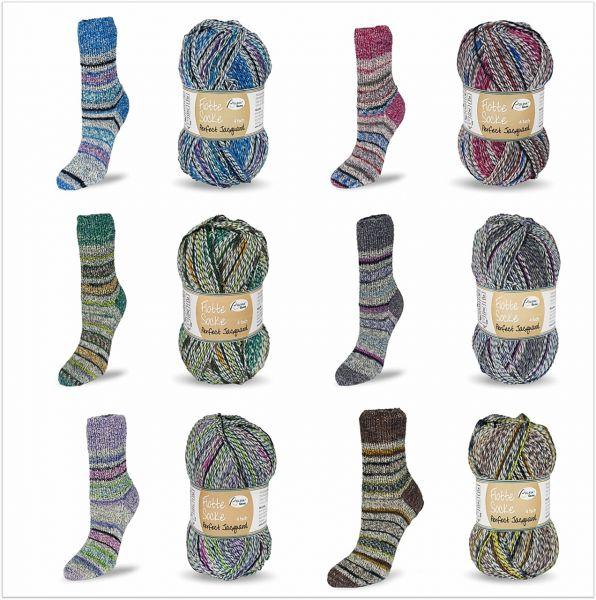 Flotte Socke Perfect Jacquard 4-fach, 100g Sockenwolle