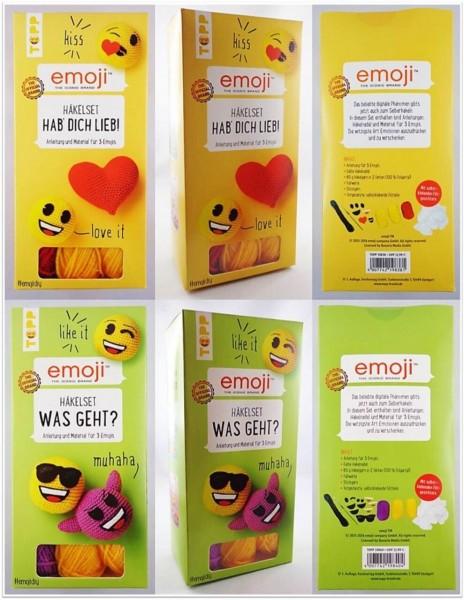 TOPP emoji Häkelset mit Material und Anleitung für emojis
