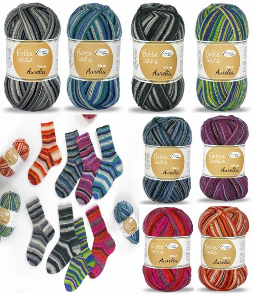 Rellana Flotte Socke Aurelia, 100g Sockenwolle 4-fach