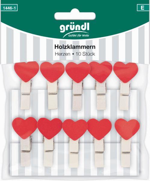 Gründl Holzklammern Herzen 1446-1