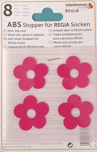 ABS-Stopper pink Blumen für Regia Socken