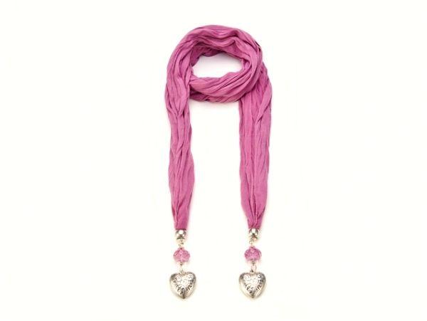 Schal - Halstuch - dunkel - rosa 52850