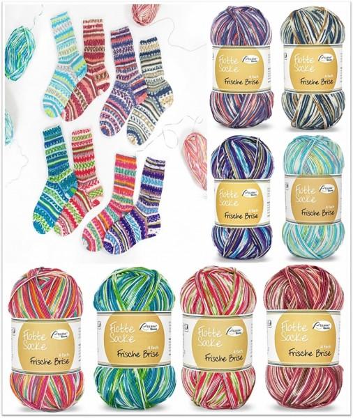 Rellana Flotte Socke Frische Brise, 100g Sockenwolle 4-fach