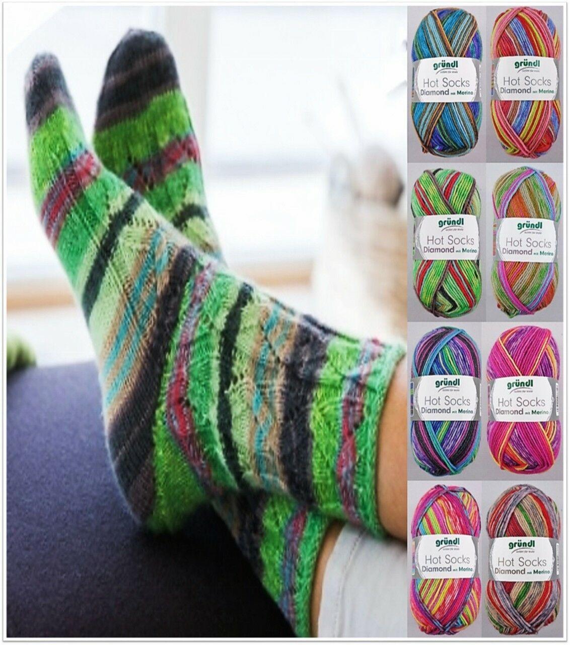 50g Sockenwolle mit Kaschmir und Merino 7,98€//100g Gründl Hot Socks Pearl color