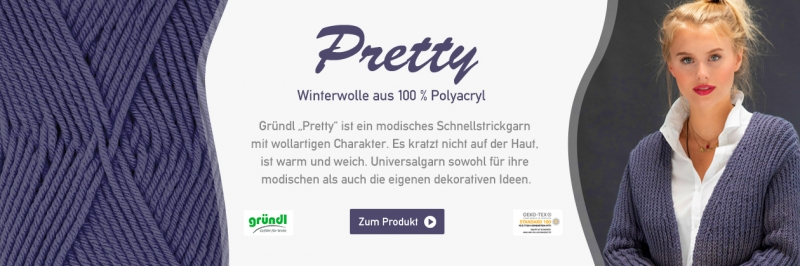 Gründl Pretty Anti-Pilling, 100g Basicgarn