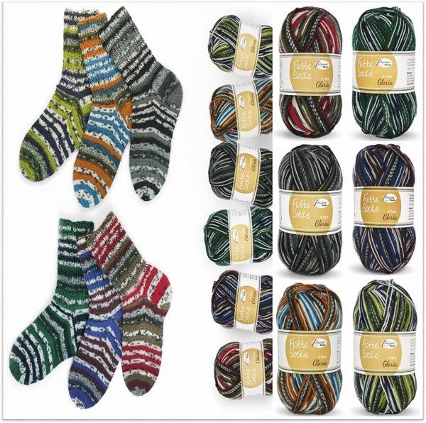 Rellana Flotte Socke Gloria, 100g Sockenwolle 4-fach