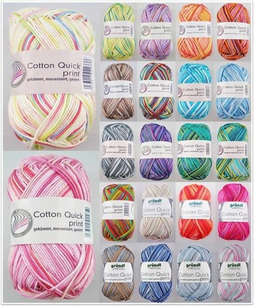 Gründl Cotton Quick Print, 50g Basicgarn Baumwolle