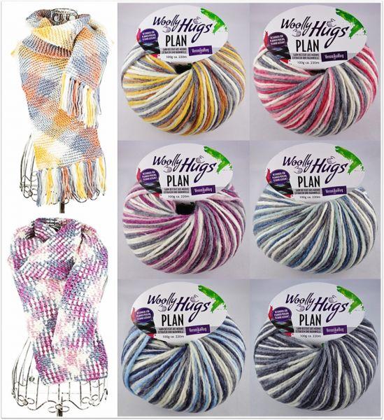 Woolly Hugs Plan, 100g Farbverlaufsgarn