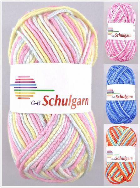 G-B Schulgarn Color, 50g Topflappengarn