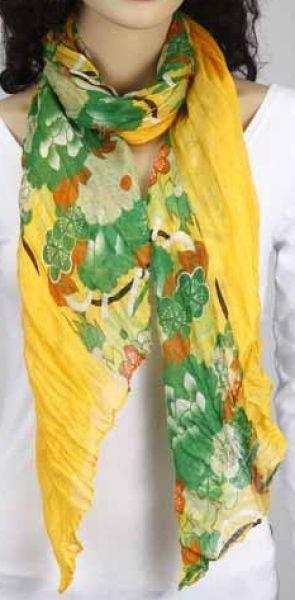 Schal - gelb-grün-orange 356-23