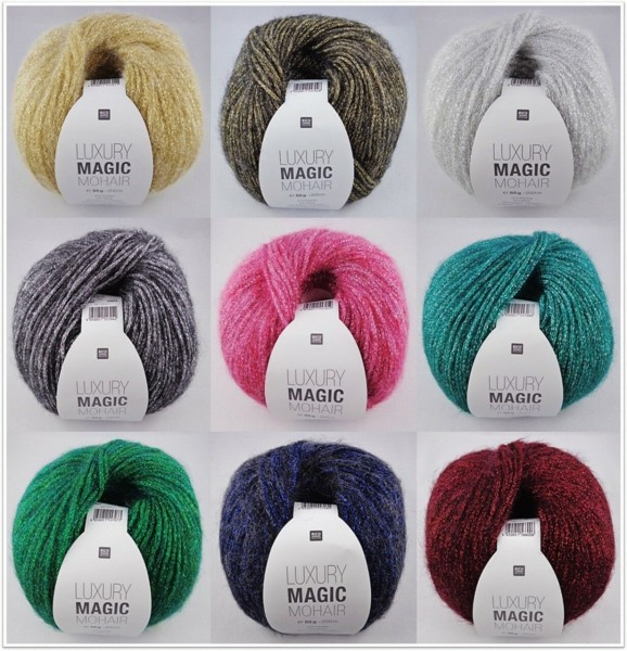 Rico Design Luxury Magic Mohair, 50g Wintergarn mit Glitzereffekt