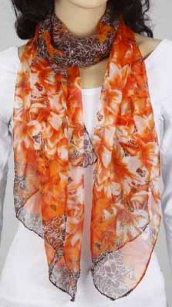 Schal - orange-braun 349-05