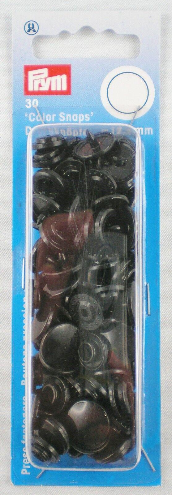 Kunststoff rund ColorSnaps Druckkn/öpfe n/ähfrei Prym Druckkn/öpfe 30 St/ück hell transparent 12,4/mm