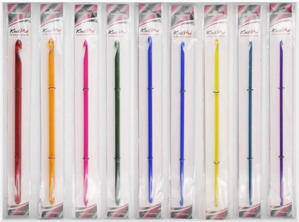 Knit Pro Trendz Tunesische Häkelnadeln (beidseiteig) 30cm lang aus Acryl in verschiedenen Stärken