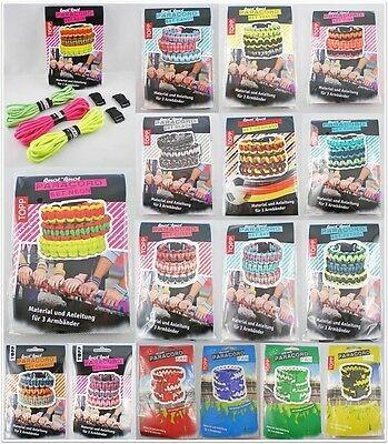 TOPP knot knot Paracord Set für drei Armbänder in verschiedenen Farben mit Anleitung