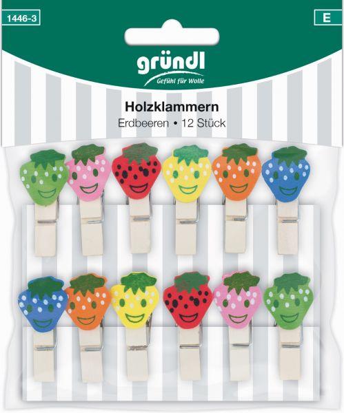 Gründl Holzklammern Erdbeeren 1446-3