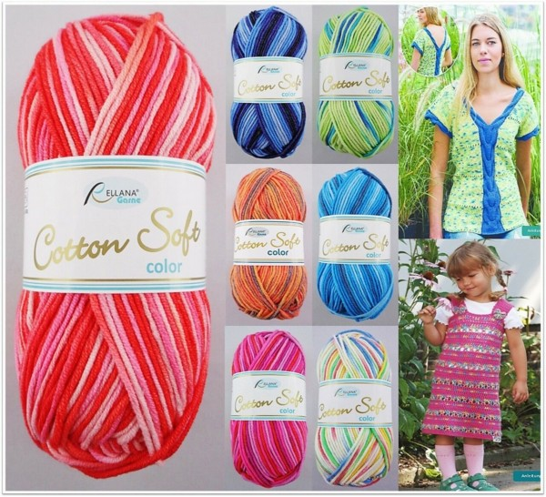 Rellana Cotton Soft Color, 50g Ganzjahresgarn
