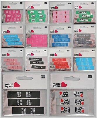Rico Design Accessoire Label-Set zum Aufnähen / Annähen