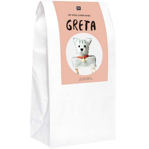 "RICO SET STOOL COVER KATZE ""GRETA"""