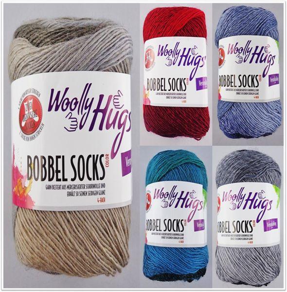 Woolly Hugs Bobbel Socks Color, 100g Sockenwolle