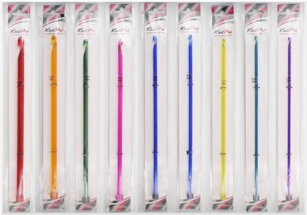 Knit Pro Trendz Afghanische Häkelnadeln (einseitig) 30cm lang aus Acryl in verschiedenen Stärken