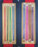 Knit Pro Zing 25cm Jackenstricknadelnset in Kunstledertasche