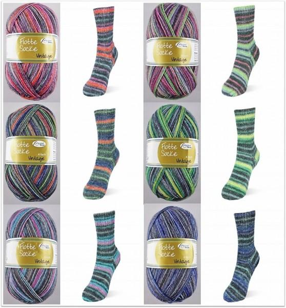 Rellana Flotte Socke Vintage, 100g Sockenwolle 4-fach