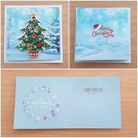 Diamond Painting 3D-Grußkarte Weihnachtsbaum (fertig)