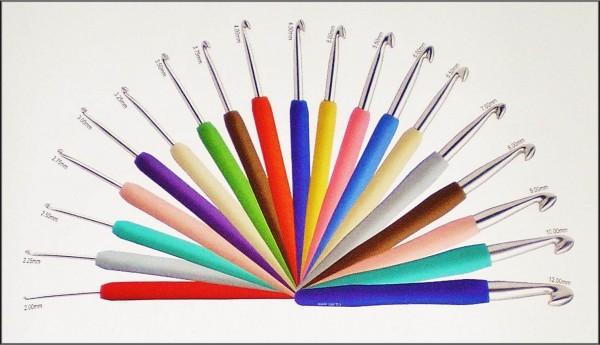 Knit Pro Waves Häkelnadeln mit Soft-Griff in verschiedenen Stärken