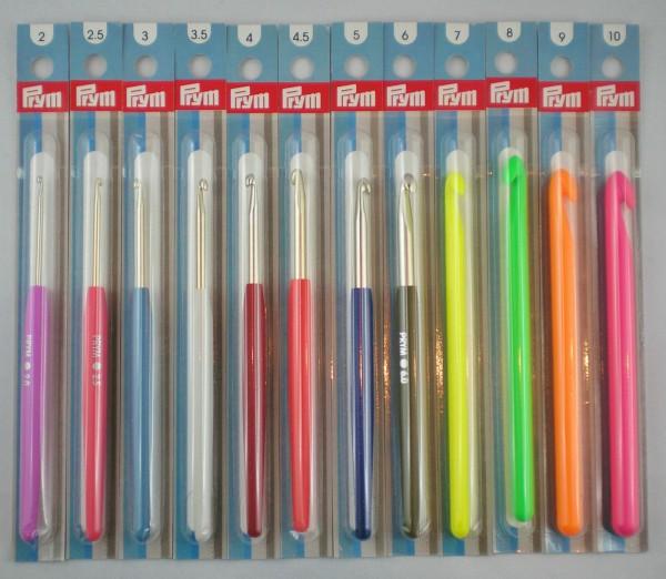 Prym Color Häkelnadeln mit Soft-Griff & ohne Griff in verschiedenen Stärken