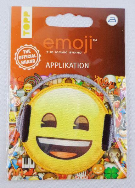 emoji Lachen mit Kopfhörer Art.19869