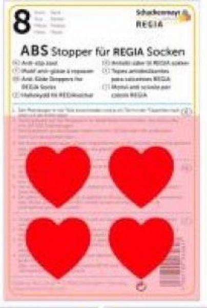 ABS-Stopper rote Herzen für Regia Socken
