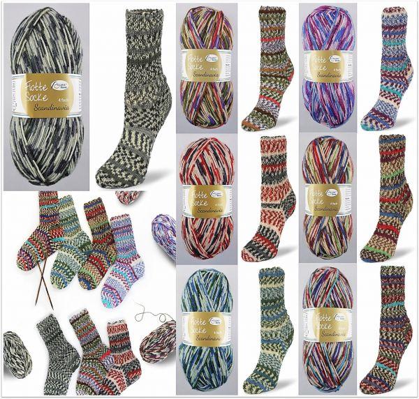 Rellana Flotte Socke Scandinavia, 100g Sockenwolle 4-fach