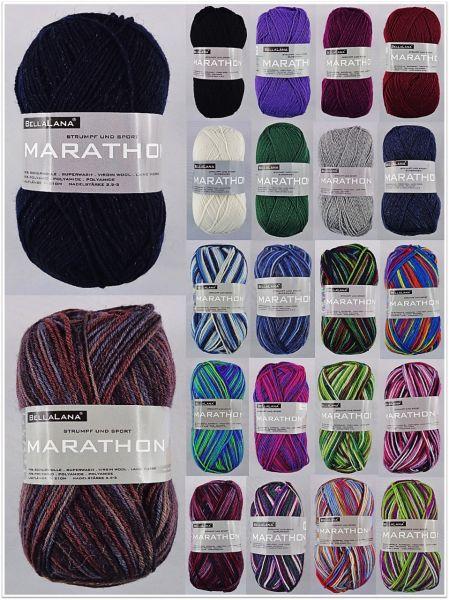 BellaLana Marathon 4-fach, 50g Sockenwolle