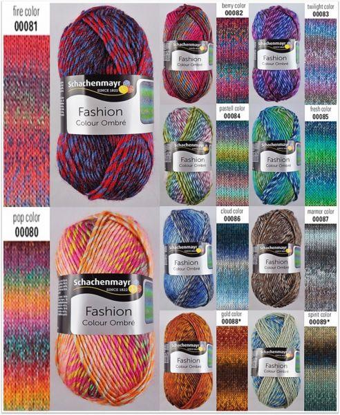 Schachenmayr Fashion Colour Ombré, 50g Farbverlaufsgarn