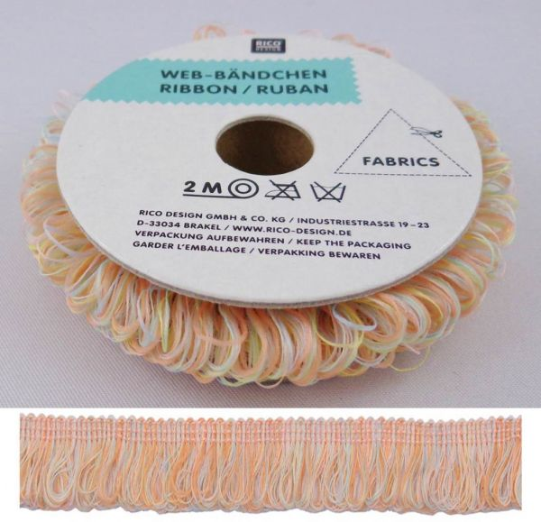 Rico Web-Bändchen Pastell Orange 35